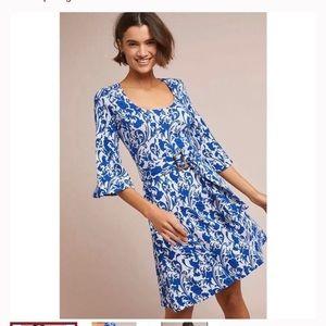 Maeve for Anthropologie floral belted dress